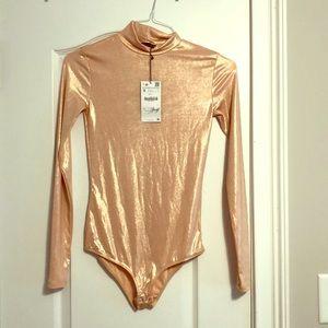 Shiny Turtleneck Bodysuit from Zara